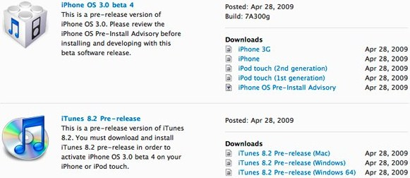 iPhone OS 3.0 Beta 4