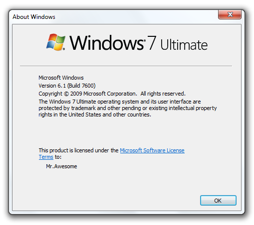 Windows 7 RTM Build 7600
