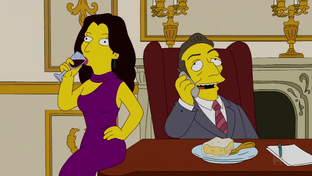 Nicolas Sarkozi et Carla Bruni dans les Simpson
