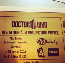 Invitation à la projection privée au Max Linder