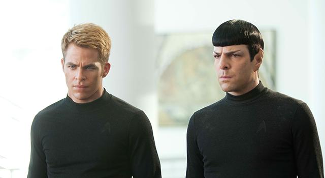 Chris Pine (Kirk) et Zachary Quinto (Spock)