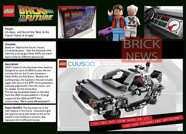 Delorean version Lego Cuusoo