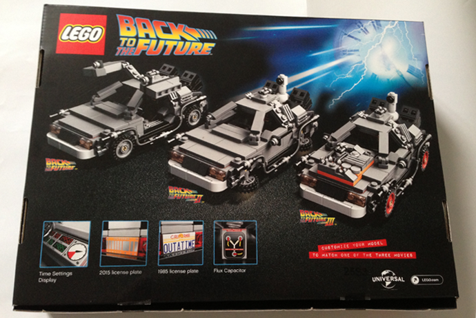 Boite DeLorean Lego Cuusoo (Verso)
