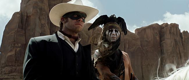 John (Armie Hammer) et Johnny Depp (Tonto)