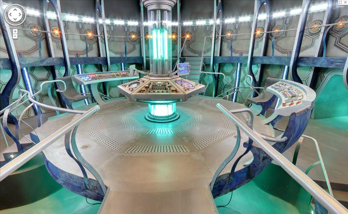 Intérieur du Tardis sur Google Maps