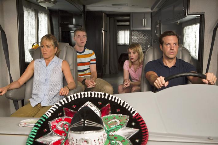 Emma Roberts, Jason Sudeikis, Jennifer Aniston et Will Poulter.