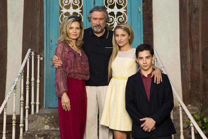 Dianna Agron, John D'Leo, Michelle Pfeiffer et Robert De Niro.