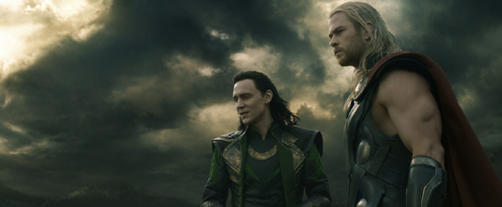 Chris Hemsworth (Thor) et Tom Hiddleston (Loki)