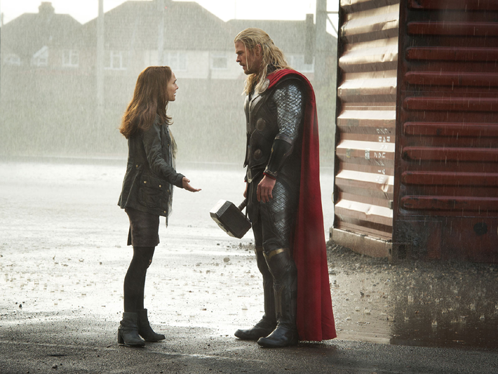 Chris Hemsworth (Thor) et Natalie Portman (Jane)